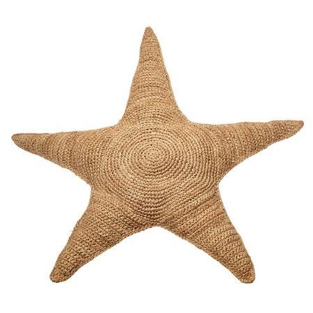 KIDS Anne-Claire Petit Crochet Sea Star Cushion - Raffia