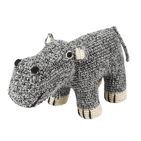 KIDS Anne-Claire Petit Hippo Toy - Grey Mix