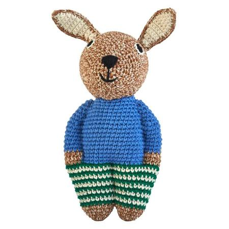 KIDS Anne-Claire Petit Midi Rabbit toy - Caramel Brown Mix