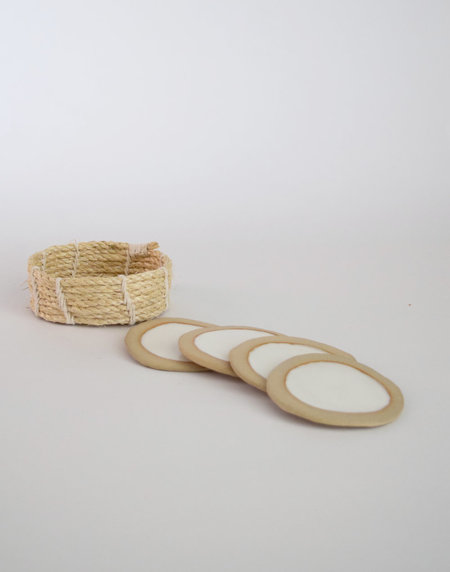 Karen Gayle Tinney S/4 Coasters With Basket #507