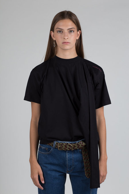 Y/Project Four Sleeve T-Shirt - Black