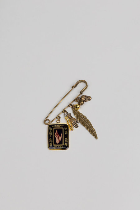 Hyein Seo Safety Pin Brooch - Brass