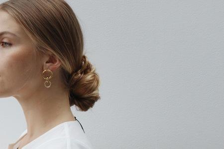 Laura Lombardi Mini Porta Earrings - gold