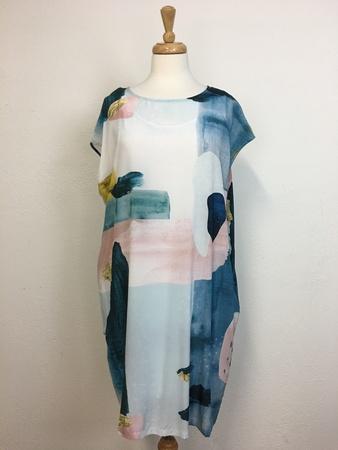 Elk Frankenthaler Silk Dress - Frankenthaler Print