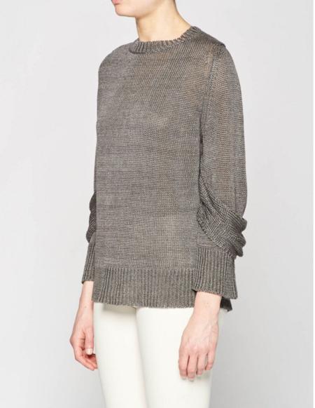 Brochu Walker Mead Draped Sleeve Pullover Sweater - Shale