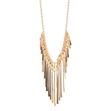 Dana Kellin Golden Burst Fringe Necklace