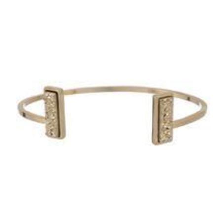 Marcia Moran Double Gold Druzy Bracelet