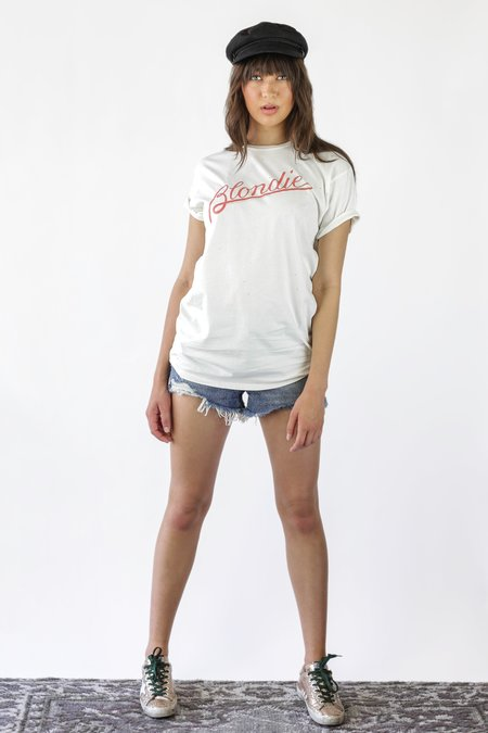 Retro Brand Black Label Blondie Printed Tee - Off White