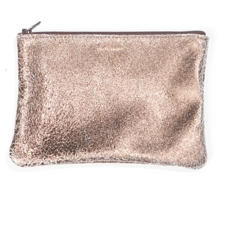 Tracey Tanner Flat Zip Pouch - Bronze/Gold