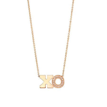 Zoe Chicco 14k Large Hugs and Kisses Necklace