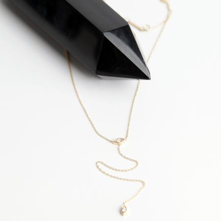 Zoe Chicco 14k Short Diamond Eye Lariat Necklace