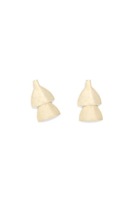 Seaworthy Lygo 2 Tier Earrings - Brass