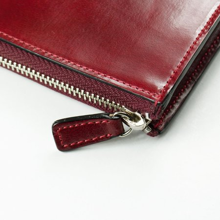 Il Bussetto Isola Zipped Wallet - Tibetan Red