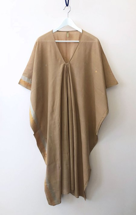 Two NYC Caftan - Caffe with gold and silver border