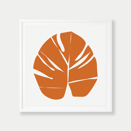Barclay Haro Art Concepts Monstera - Orange