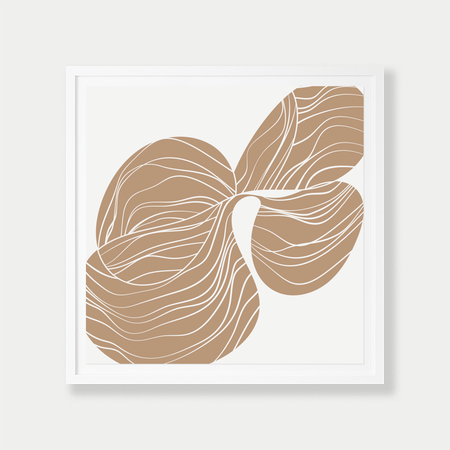 Barclay Haro Art Concepts Reverse Orchid Study - Sand