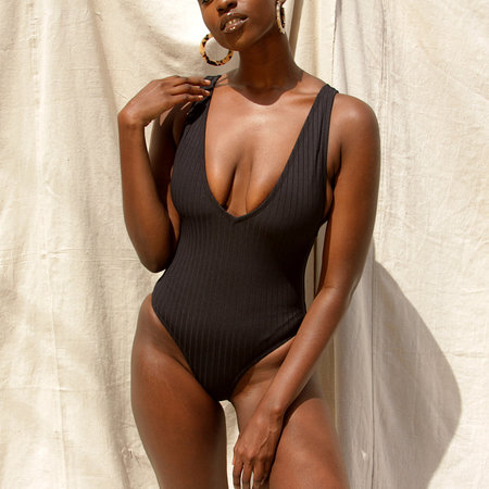 Static Swimwear Vermont One Piece - Black