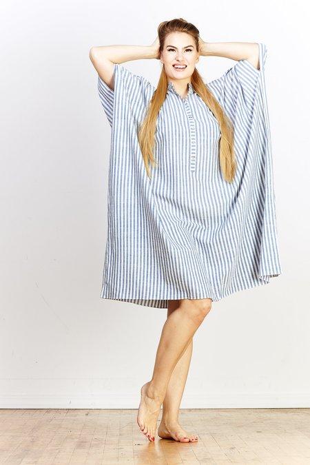 Aish Disha Dress - Blue Stripe