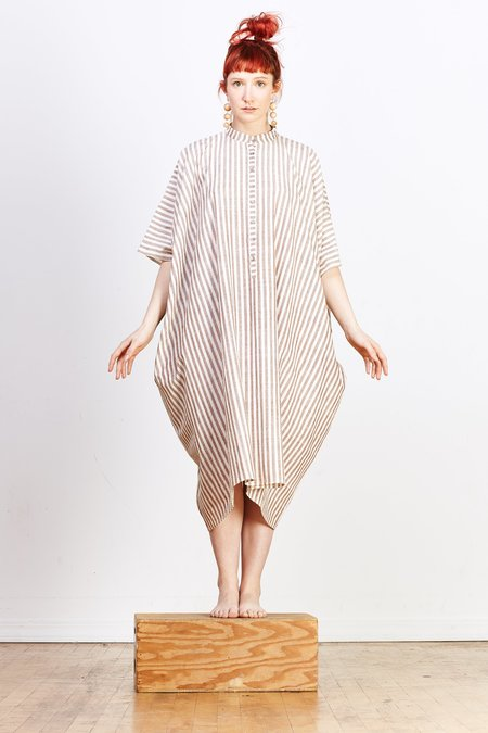 Aish Disha Dress - Brown Stripe