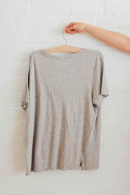 Bassike Classic Vintage T Shirt - Grey Marl