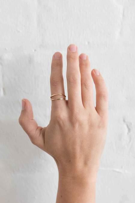 Natalie Martin Plane Ring - Gold