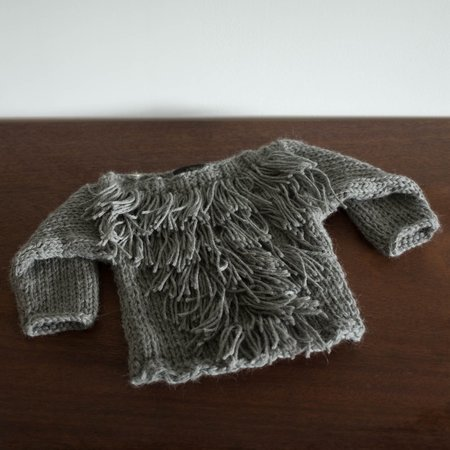 Kids Kkibo Alpaca Fringe Sweater