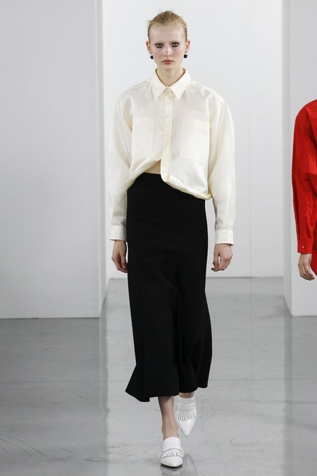 Ports 1961 Long Sleeve Shirt - OFF WHITE