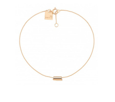 Ginette NY Mini Straw Bracelet - Rose Gold