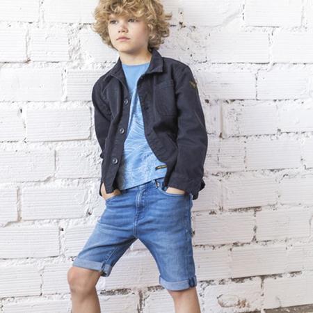 KIDS Finger In The Nose Edmond Shorts - Mid Blue Denim