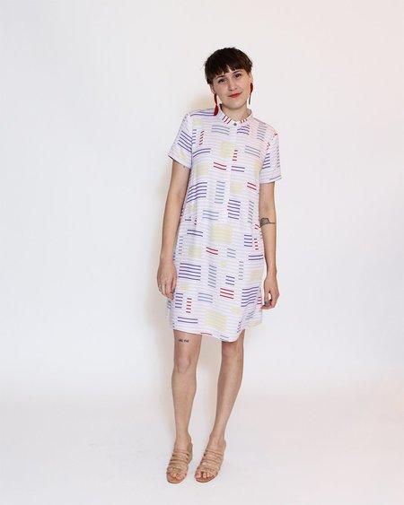Dusen Dusen Oversize Tee Dress - Split Stripe