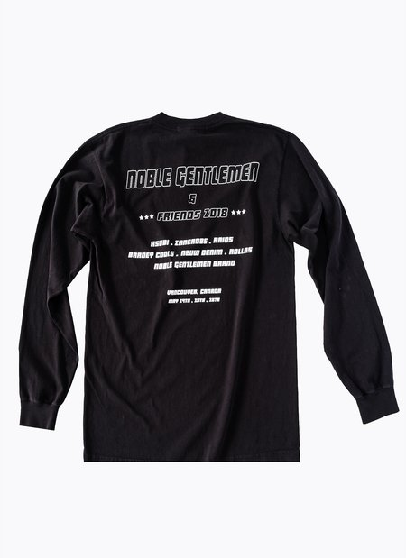 Noble Gentlemen Brand Car Club Long Sleeve T-shirt - Black
