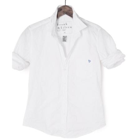 Frank & Eileen Eileen Open Hrt Shirt - White/Blue