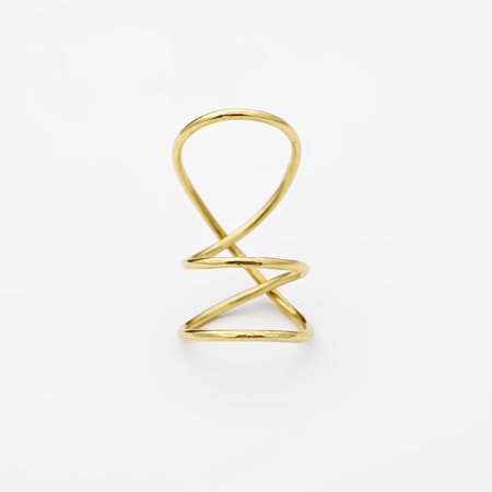 FAY ANDRADA RYSTY HI RING - BRASS