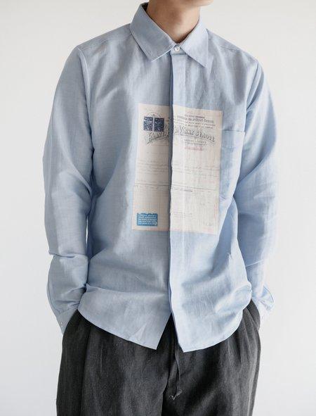 Frank Leder Cotton Shirt - Blue