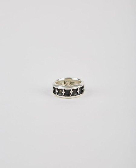 Speakeasy Original BOLT BAND RING - BLACK/SILVER