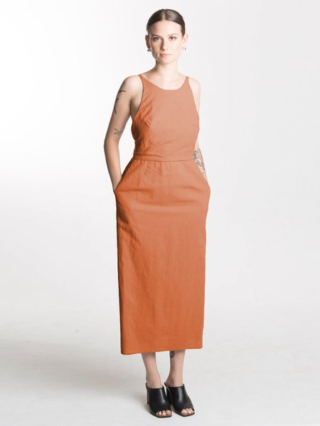 IGWT Combed Cotton Copra Dress - Rust