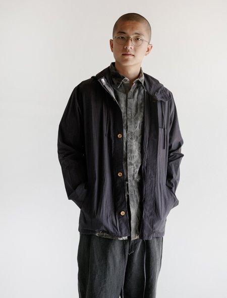Frank Leder Cotton Hood Jacket - deep purple