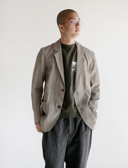 Frank Leder Linen Jacket - Gray