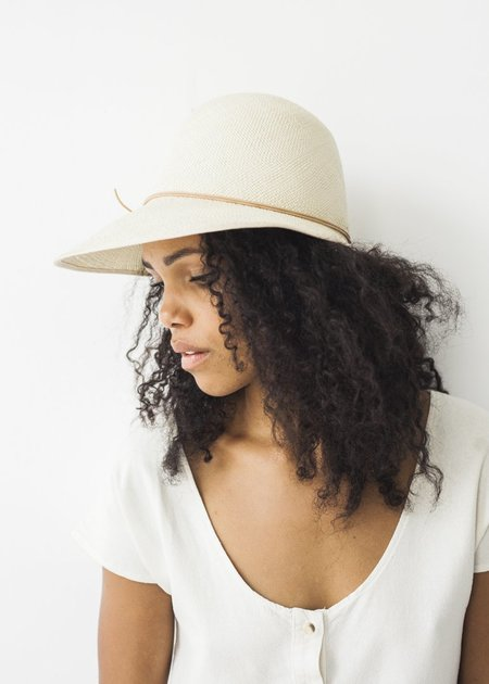Brookes Boswell Millinery Duo Hat - Natural Panama Straw