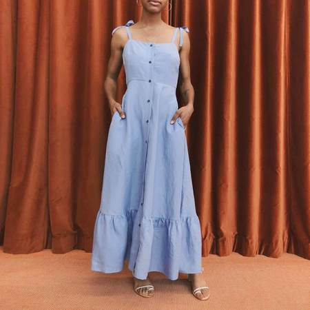 Creatures of Comfort Orion Dress - Sky Blue