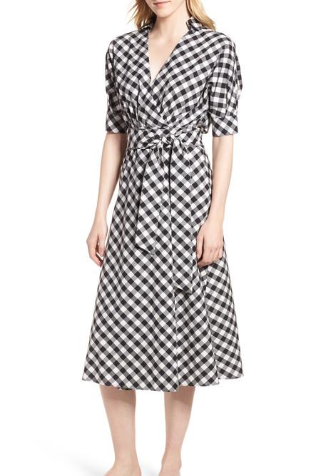 Habitual Luna Gingham Dress - black/white