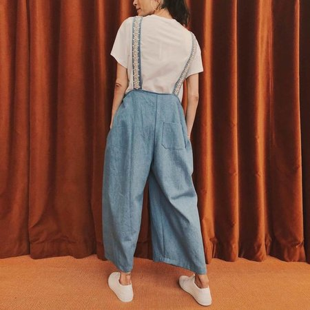 Collina Strada Humpback Overall Pants - light denim