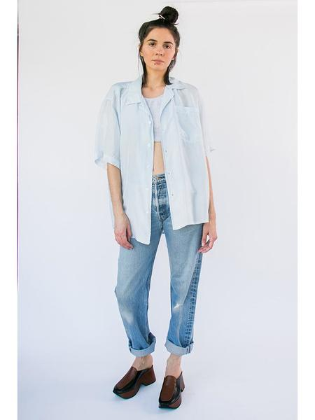 Audrey Louise Reynolds Big Button Up Shirt - Indigo