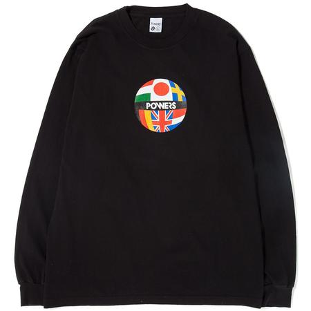 Powers Global Flag Long Sleeve T-Shirt - Black