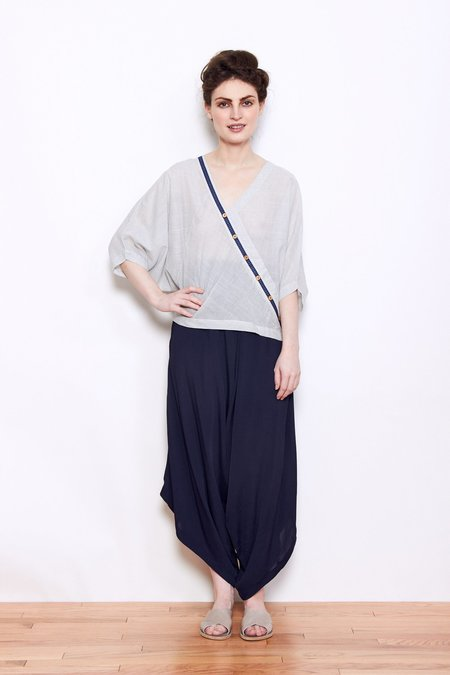 Rujuta Sheth Kimono Top - White Chex