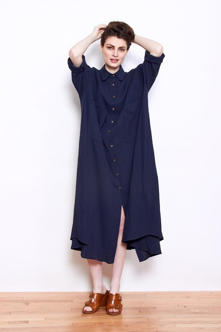 Sunja Link Shirt Dress - Navy