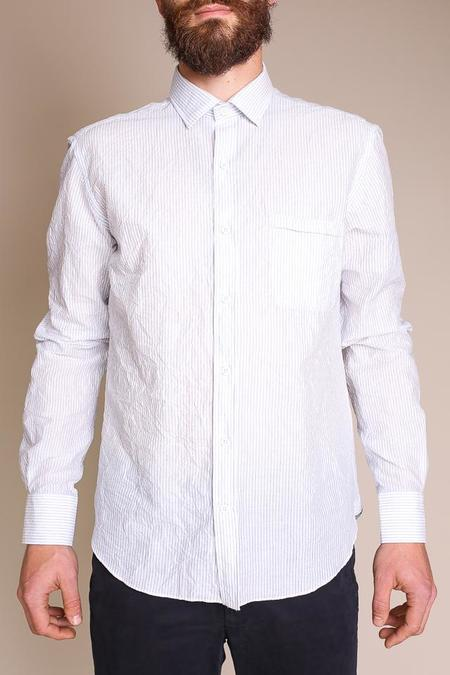 Culturata Cotton Long Sleeve Shirt - White Stripe