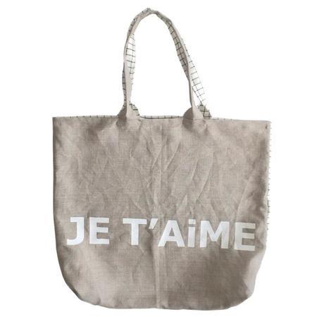 Atsuyo et Akiko Linen Bag Je T'aime - Check Small
