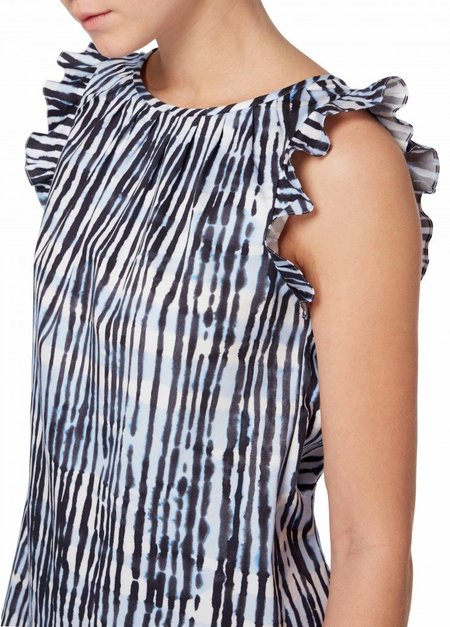 GOAT Freud Batik Stripe Top - Blue