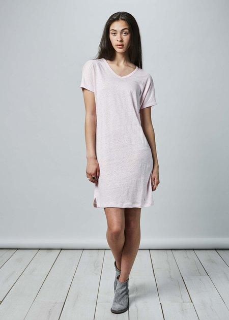 Lost & Found Short Linen T-Shirt Dress